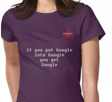 GeekGirl - If you put Google.. Womens Fitted T-Shirt