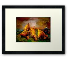 Still Life with Pears, Hazelnuts and A Single Fig Framed Print