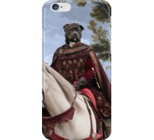 Staffordshire Bull Terrier Art - Resting in front of the tavern iPhone Case/Skin