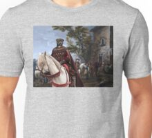 Staffordshire Bull Terrier Art - Resting in front of the tavern Unisex T-Shirt