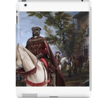 Staffordshire Bull Terrier Art - Resting in front of the tavern iPad Case/Skin