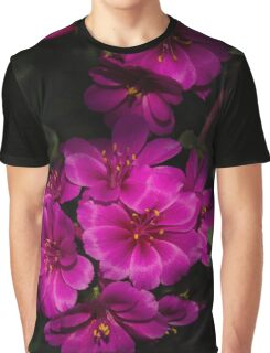 A Vivid Succulent Bouquet in Bold Pink and Fuchsia Graphic T-Shirt