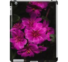 A Vivid Succulent Bouquet in Bold Pink and Fuchsia iPad Case/Skin