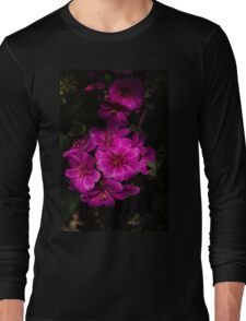 A Vivid Succulent Bouquet in Bold Pink and Fuchsia Long Sleeve T-Shirt