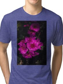 A Vivid Succulent Bouquet in Bold Pink and Fuchsia Tri-blend T-Shirt