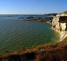 Dover Docks and the Famous White Cliffs  by SerenaB