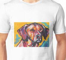 Rhodesian Ridgeback Bright colorful pop dog art Unisex T-Shirt