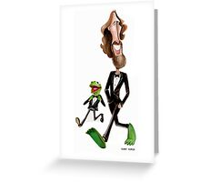 Steppin' Out with Jim and Kermit Greeting Card