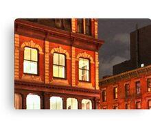 Gotham By Night - New York City Canvas Print