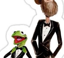 Steppin' Out with Jim and Kermit Sticker