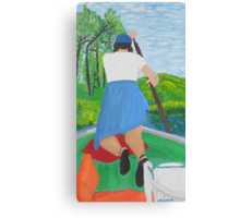 My Sister at the Cabin Canvas Print