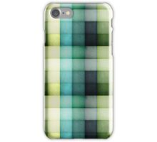 Chequered blues. iPhone Case/Skin