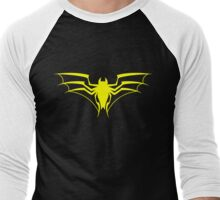 Spider-Bat (Yellow) Men's Baseball ¾ T-Shirt