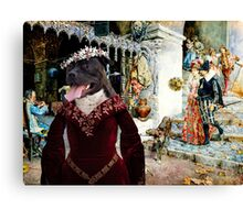 Staffordshire Bull Terrier Art - Elegant company in a tavern Canvas Print