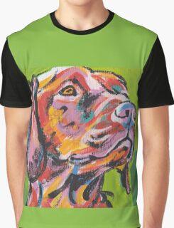 Vizsla Dog Bright colorful pop dog art Graphic T-Shirt
