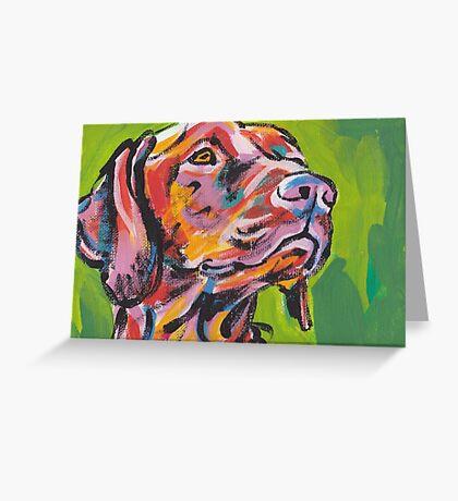 Vizsla Dog Bright colorful pop dog art Greeting Card