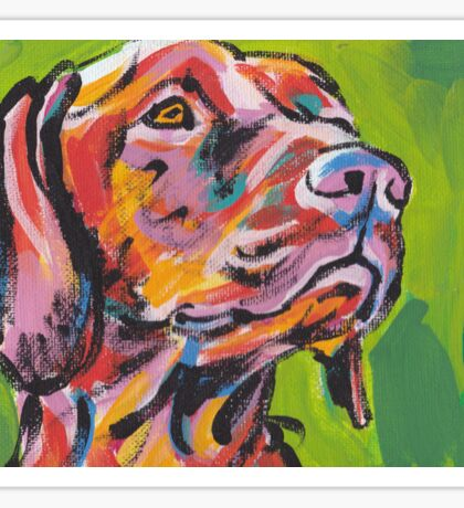 Vizsla Dog Bright colorful pop dog art Sticker