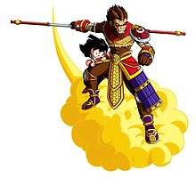 Wukong Takes Gohan on a Ride by grnaskd