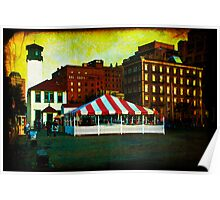 Evening on Fulton Ferry Pier in Brooklyn Poster