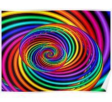 3D Rainbow Spiral  Poster