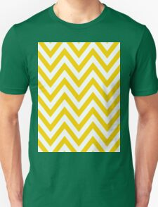 Yellow Chevron Pattern T-Shirt