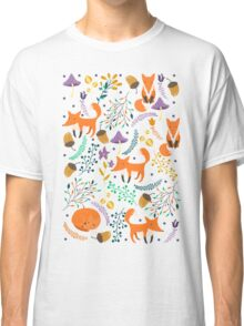 Foxes in magic forest Classic T-Shirt