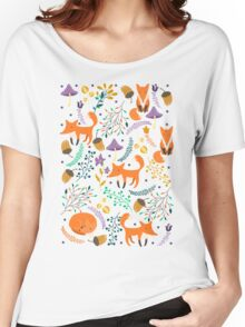 Foxes in magic forest Women's Relaxed Fit T-Shirt
