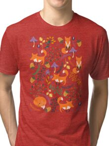 Foxes in magic forest Tri-blend T-Shirt