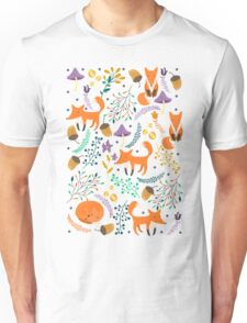 Foxes in magic forest Unisex T-Shirt