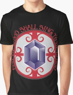 And the Blood shall sing to the Blood Graphic T-Shirt