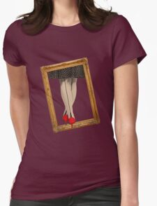 Hot Shoes - Red! Womens Fitted T-Shirt