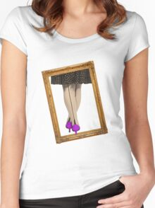 Hot Shoes - Purple! Women's Fitted Scoop T-Shirt