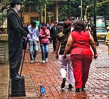 People on the street by Maria  Gonzalez