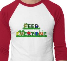 Feed Everyone Men's Baseball ¾ T-Shirt