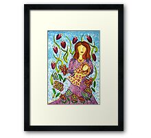 Mother's Arms ~ always open for a hug Framed Print