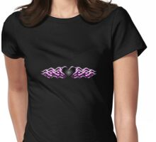 Flaming black heart Womens Fitted T-Shirt