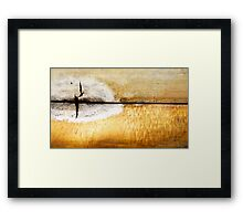 There once was a lake..... Framed Print
