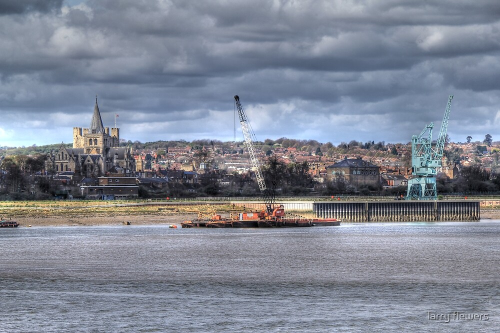 Cranes on the Medway  by larry flewers