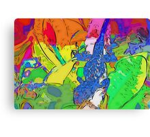 Blue lizard fantasia Canvas Print