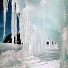 Ice Cave in Blue &amp; White by Carole-Anne