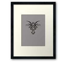 Dragon face brand - Black  Framed Print