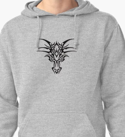 Dragon face brand - Black  Pullover Hoodie