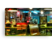 Early Morning Local Diner Canvas Print