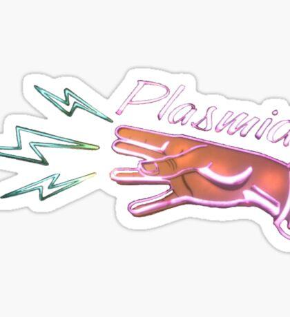 Neon Plasmids sign Sticker