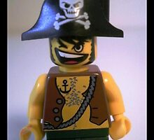 International Talk Like a Pirate Day Greeting Card (September 19th), with Custom LEGO® Pirate Captain Minifig, by 'Customize My Minifig' by Chillee