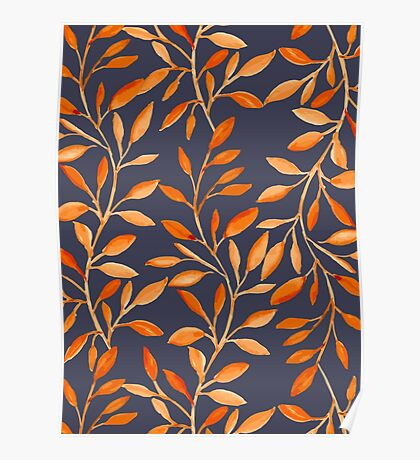 Autumn pattern Poster