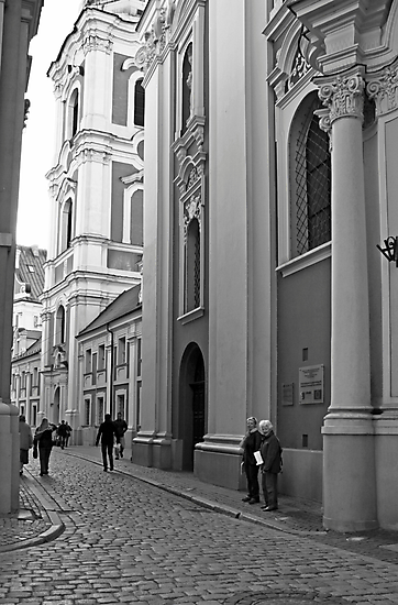 Poznan street scene by BrianZvi