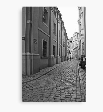 Poznan street scene 2 Canvas Print