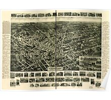 Panoramic Maps 1925 aero-view of Hicksville Long Island Nassau County New York Poster