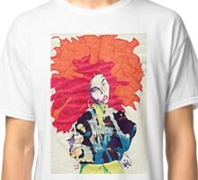 Girl With Abstract Jacket Classic T-Shirt